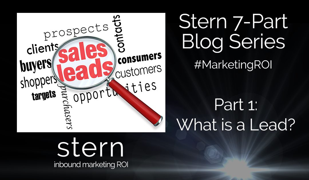 What is a Lead? #MarketingROI