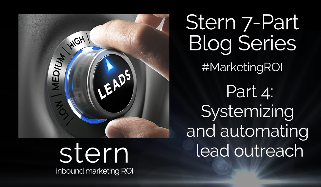 Systemizing and Automating Lead Outreach #MarketingROI Part 4