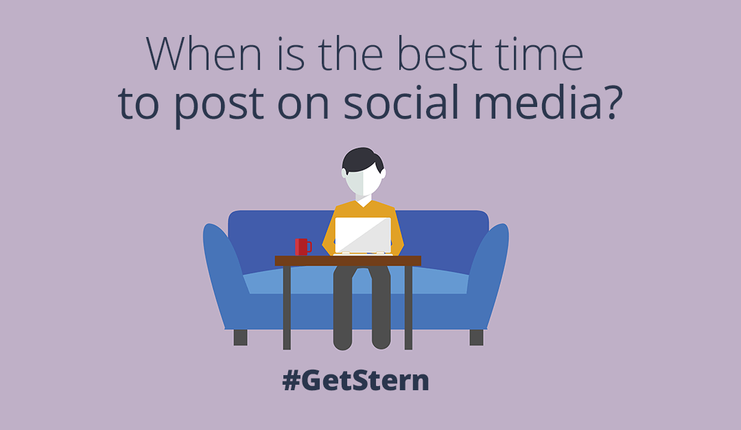 What's the correct time to post on social media?
